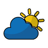 Cloudy weather isolated icon. Vector illustration design Royalty Free Stock Photography