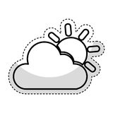 Cloudy weather isolated icon. Vector illustration design Stock Photos