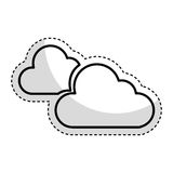 Cloudy weather isolated icon. Vector illustration design Stock Photo