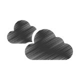 Cloudy weather isolated icon. Vector illustration design Royalty Free Stock Images