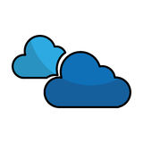 Cloudy weather isolated icon. Vector illustration design Stock Photography