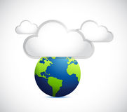 Cloudy weather over the earth illustration Stock Photography