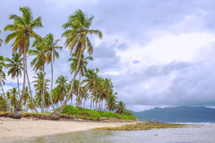 Cloudy weather on the tropical coast Stock Photos