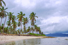 Cloudy weather on the tropical coast Royalty Free Stock Image