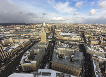 Cloudy wheather cityscape Royalty Free Stock Photography