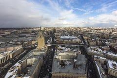 Cloudy wheather cityscape Stock Photos