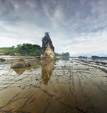 Cloudy wheather in Sawarna Royalty Free Stock Photos