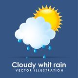 Cloudy whit rain Stock Photography