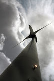 Cloudy wind turbine Royalty Free Stock Photo
