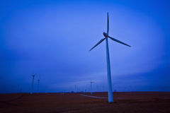 Cloudy wind turbines china Stock Photography