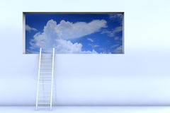 Cloudy Window Stock Images