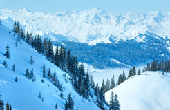 Cloudy winter mountain landscape Royalty Free Stock Photos