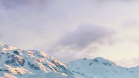 Cloudy winter sky over mountain peaks Royalty Free Stock Photography