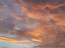Cloudy. Wolkig, fluffy, orange Royalty Free Stock Photography