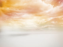 Cloudy yellow sky Royalty Free Stock Images
