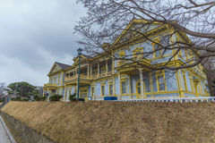 Cloudyscape of former branch office in Hakodate royalty free stock photo