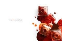 Clouez l'art Concept de beauté de beaux-arts de vernis à ongles Images stock