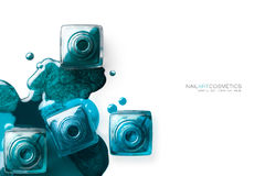 Clouez l'art Concept de beauté de beaux-arts de vernis à ongles Images libres de droits