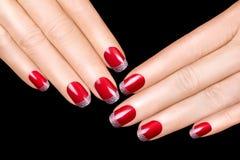 Clouez l'art Vernis à ongles de luxe Autocollants de clou Image stock