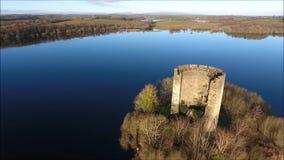 Clough Oughter Castle. Cavan. Ireland stock video