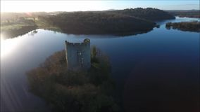 Clough Oughter-Schloss Cavan irland stock video footage