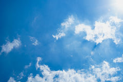 Clound. Abstract beautiful clound in blue sky for blackground Royalty Free Stock Photo
