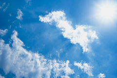Clound. Abstract beautiful clound in blue sky for blackground Royalty Free Stock Images