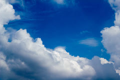 Clound Blue sky. Clound with Blue sky in January Royalty Free Stock Photo