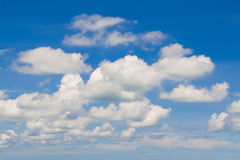 Clound in blue sky. White cloud in blue sky Stock Photos