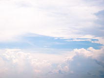 Clound. Cloud in the blue sky abstract background Stock Image