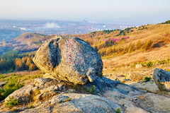 Clound hill golden stone. The photo was taken in the Ziyunling scenic spot Shuangyashan city Heilongjiang province,China Stock Images