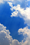 Clound in the sky. Dark blue sky with clound stock images