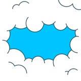 Clounds de style de bande dessinée avec une ouverture de ciel bleu lumineux illustration stock
