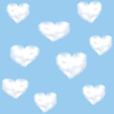 Clounds shaped heart Royalty Free Stock Photo