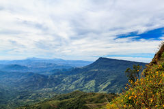 Cloundy mountain. View at khao kor Thailand Royalty Free Stock Photos
