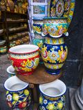 Clourful Ceramic Shop in Amalfi Southern Italy Royalty Free Stock Image
