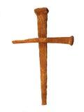 Clous dans la forme de la croix Images libres de droits