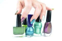 Clous de couleur Images stock