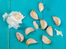 Clous de girofle d'ail aromatique frais Images stock