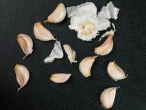 Clous de girofle d'ail aromatique frais Photos libres de droits