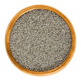Clous de girofle gris dans la cuvette en bois au-dessus du blanc Photo stock