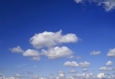 Clous no céu Imagem de Stock