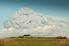 clouse καλοκαίρι σπιτιών σε volcan Στοκ Εικόνα