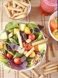 Clouse acima da salada Imagem de Stock