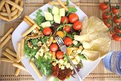 Clouse acima da salada Foto de Stock