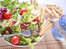 Clouse acima da salada Imagens de Stock Royalty Free