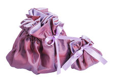 Clouse big and small bags purple Royalty Free Stock Photo