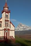 Clouse da igreja a volcan fotografia de stock