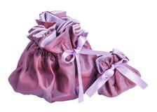 Clouse duży i małe torby purpurowe Zdjęcie Royalty Free