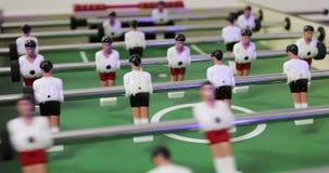 Clouse-up桌喷射器足球 股票视频